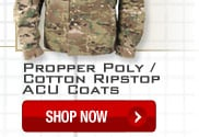 Propper Poly/Cotton Ripstop ACU Coats - Shop Now.